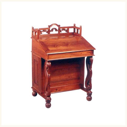 Davenport Deskbritish Colonial Burma Teak Desk Reproduction