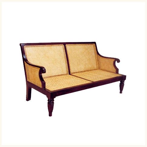 calcutta sofa colonial sofa cane teak reproduction. Black Bedroom Furniture Sets. Home Design Ideas