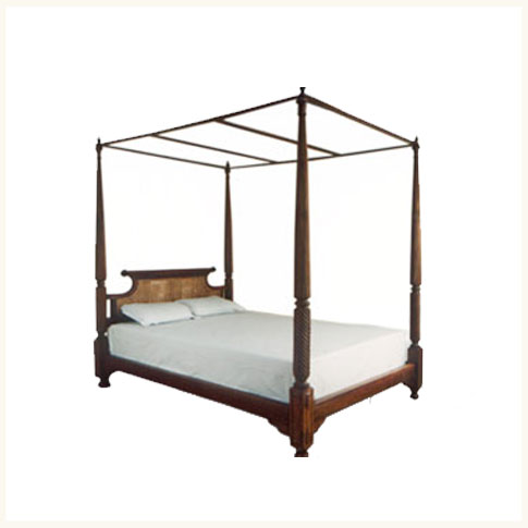 Bombay Colonial Four Poster Bed British Colonial Burma